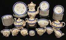 Old Paris porcelain dessert set, eighty-five pieces
