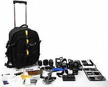 Nikon N905 and N2020 camera outfits in soft camera case