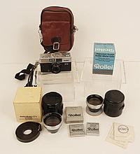 Rollei B35 camera, Rollei lenses and filters