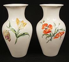 Pair of Royal Manufactory (KPM) porcelain vases