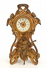 Ansonia Art Nouveau metal cased clock