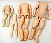 Grouping of antique composition doll bodies