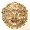 Bronze plaque mask