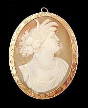 Edwardian gold cameo brooch