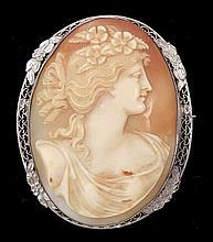 Edwardian cameo brooch