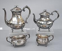 David Andersen four piece sterling silver tea and coffee service