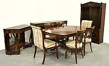 Mahogany Empire style dining room suite