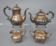 C.M. Cohr Danish four piece sterling silver tea & coffee service