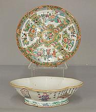 Rose Medallion plate and Chinese Export bowl