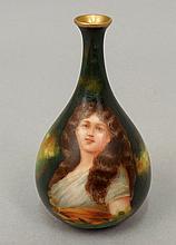 Royal Schwarzburg miniature portrait vase
