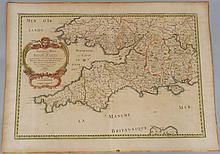 Nicholas Sanson d'Abbeville hand colored 1654 French map
