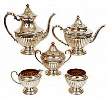 Five piece sterling silver tea and coffee service
