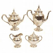 Gorham sterling silver four piece tea and coffee service