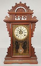 Seth Thomas walnut cased kitchen shelf clock