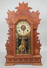 Gilbert oak cased kitchen shelf clock