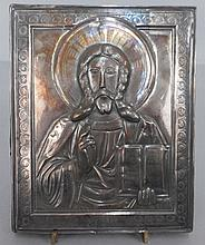 Russian sterling silver icon
