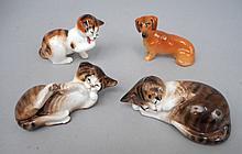 Four Royal Doulton porcelain animals