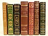 Lot of seven Heritage Press leather bound books