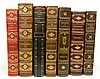Seven 3/4 gilt leather bound books