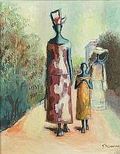 Gerard Sekoto - Senegalese Women and Child