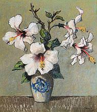 Conrad Nagel Doman Theys Still Life with Hibiscus
