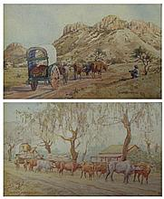 Ernst Karl Erich Mayer Ox Carts, a pair each