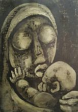 Lucas Thandokwazi Sithole Mother and Child signed