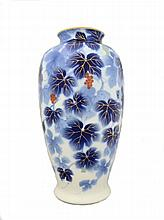 A Japanese vase, Fukagawa, mid 20th century of