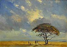 Christopher Tugwell Landscape with Figures under a