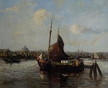 Continental School 19th Century Waterway with