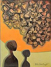 Bettie Cilliers-Barnard Two Figures signed and