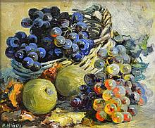 Amy Beatrice Hazell Still Life with Grapes and
