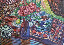 Jeanne Kotzé Louw Still Life with Roses and