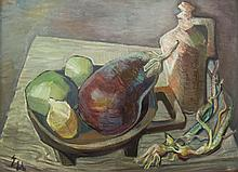 Ernest Ullmann Still Life with Aubergine, Fruit