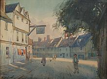 Sydney Carter Street Scene with Figures signed