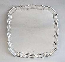 A George V silver salver, T Wilkinson & Sons,