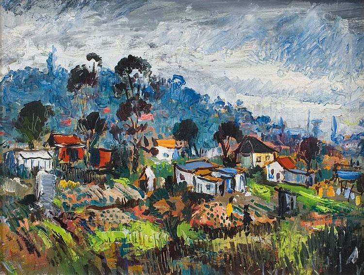 George ENSLIN South African 1919-1972 Houses