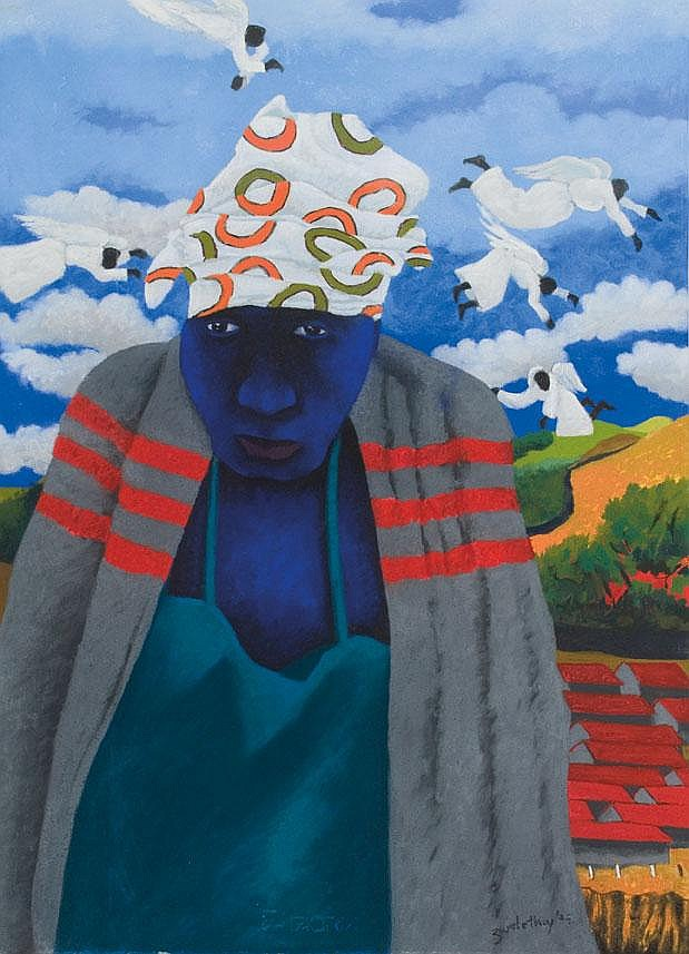 Zwelethu MTHETHWA South African 1960- A Woman with