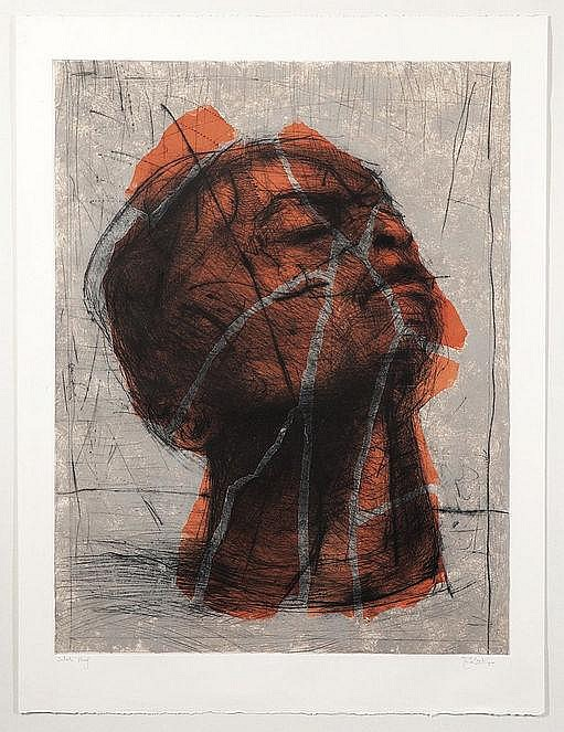William Joseph KENTRIDGE South African 1955- Head