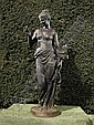 After Mathurin Moreau, a cast iron figure of Flora, Mathurin Moreau, Click for value