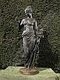 After Mathurin Moreau, a cast iron figure of Flora, Mathurin Moreau, Click for value
