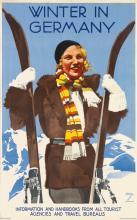 LUDWIG HOHLWEIN (1874-1949). WINTER IN GERMANY. Circa 1935. 39x24 inches, 100x62 cm. Herm. Sonntag & Co., Munich.