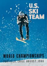 DESIGNER UNKNOWN. U.S. SKI TEAM / WORLD CHAMPIONSHIPS. 1966 29x21 inches, 75x53 cm.