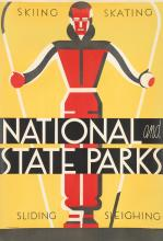 DOROTHY WAUGH (1896-1996). NATIONAL AND STATE PARKS. Circa 1934. 40x27 inches, 101x69 cm. U.S. Government Printing Office, [Washington