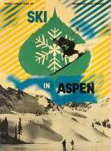 HERBERT BAYER (1900-1985). SKI IN ASPEN COLORADO. 1946. 40x30 inches, 103x76 cm.