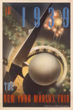 NEMBHARD N. CULIN (1908-1990). IN 1939 / THE NEW YORK WORLD'S FAIR. 1937. 30x20 inches, 76x50 cm.