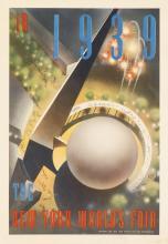 NEMBHARD N. CULIN (1908-1990). IN 1939 / THE NEW YORK WORLD'S FAIR. 1937. 20x13 inches, 50x35 cm.