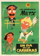 JANO (FRANCISCO FERNÁNDEZ ZARZA, 1922-1992). LOS HERMANOS MARX / UN DIA EN LAS CARRERAS. Circa 1937. 39x27 inches, 99x70 cm. A. Cadarso