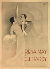 HARFORD (DATES UNKNOWN). RENA MAY ET GERARDY. Circa 1930. 62x46 inches, 157x116 cm.