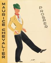 VARIOUS ARTISTS. [MAURICE CHEVALIER.] Two posters. 1937. Each 19x15 inches, 48x39 cm.